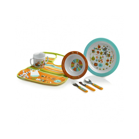 Stoviglie decorate - Set stoviglie in melamina [crockery set] 70195 circus by Jane
