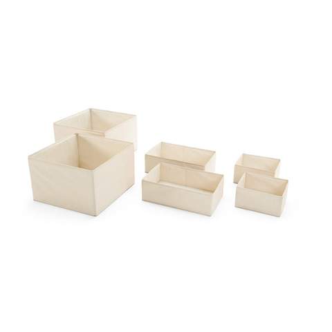 Accessori per la cameretta - 6 vaschette in tessuto per armadio Keep Crema by Stokke