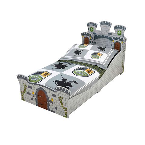 KidKraft Set lettino Castello medievale + piumone 3 pz. + matera...