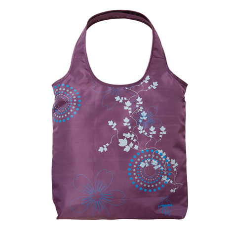 Borse - Borsa Shopper purple (circle dots flower) by Laessig
