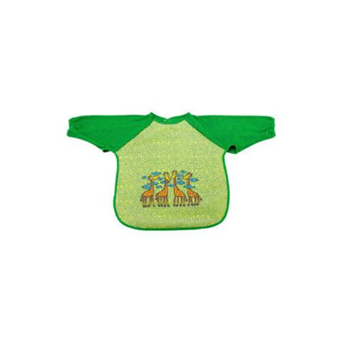 Bavaglini - Bavaglino pappa con maniche Verde [KBM-AL] by Laken