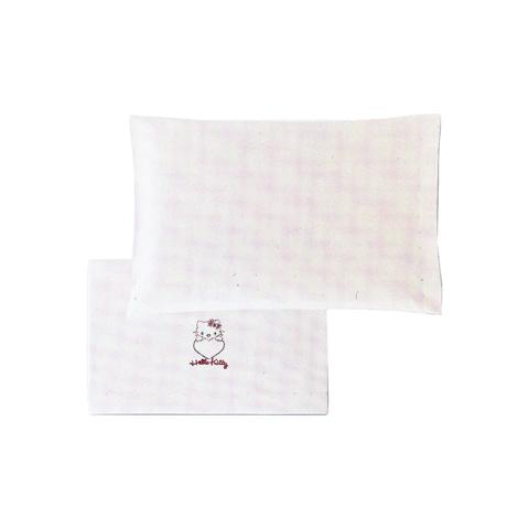 Coordinati tessili - Set lenzuolini lettino Hello Kitty Heart con strass 100 bianco by Somma