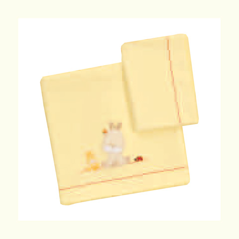 Coperte, lenzuolini e paracolpi - Completo 3 pz. lenzuolini per lettino - Terry 070 giallo by Somma