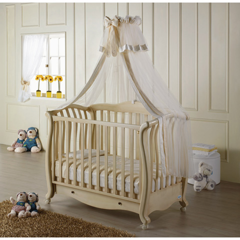 babybett kinderbett aus holz andrea baby italia avorio anticato keine matratze ebay. Black Bedroom Furniture Sets. Home Design Ideas