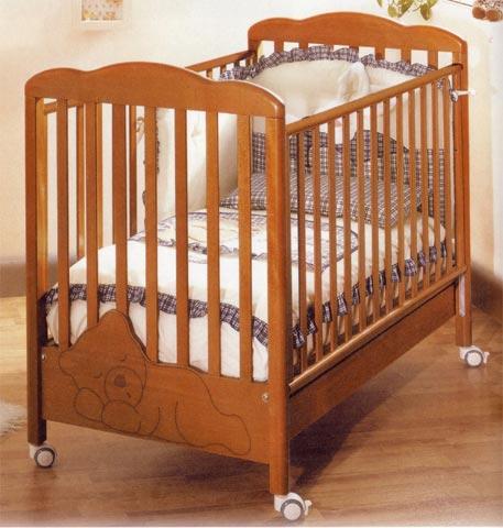 Offerte in corso - Set lettino Coccolo + cass.fasc. Baby Coccolo Ciliegio by Baby Expert