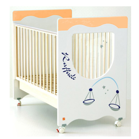 Lettini - Lettino Zodiaco - arancio [personalizzabile] Bilancia by NCR arredo baby