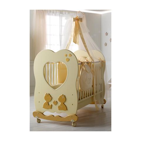 Lettini - Cuore di mamma - linea Swarovski Panna/Oro by Baby Expert