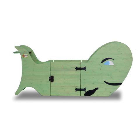 Lettini - Lettino Lettino Balena [legno massello] Verde by Sogni Fantastici