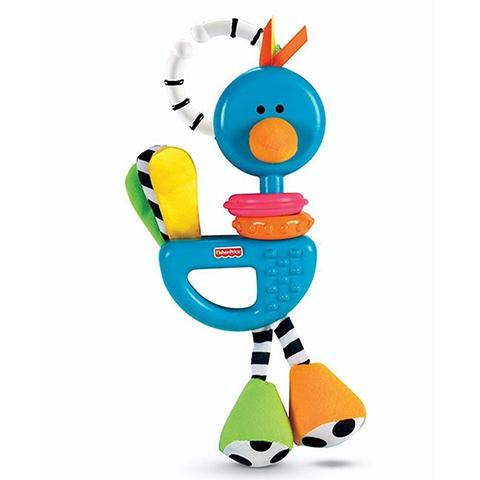 Giocattoli 0+ mesi - Sonaglini Snapper Uccellino Blu H9452 by Fisher Price