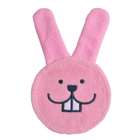 Giocattoli 3+ mesi - Guantino massaggiagengive - Oral care rabbit 25130 rosa by Mam