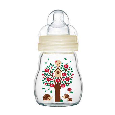 Biberon e succhiotti - Biberon Feel Good in vetro 21166 - 170 ml - Neutro by Mam