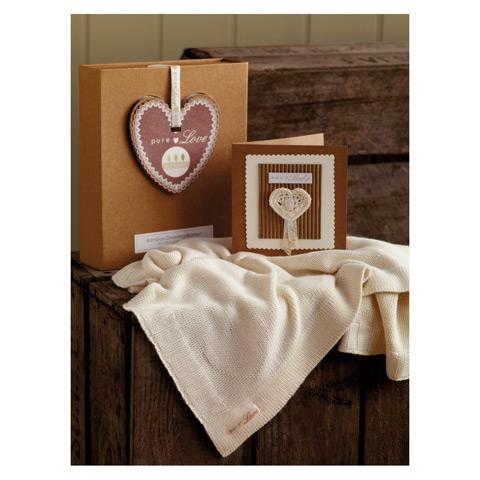 Copertina a maglia Bambù per culla - confezione regalo in promozione a prezzo scontato su Culladelbimbo.it!