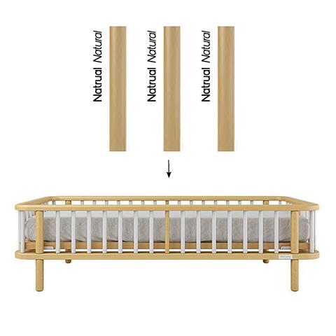 Accessori per la cameretta - Kit trasformazione per lettivo evolutivo Life Struttura Naturale - stecche Naturale by Micuna