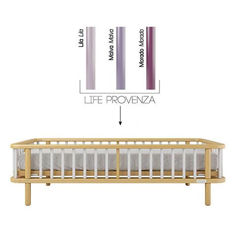 Accessori per la cameretta - Kit trasformazione per lettivo evolutivo Life Struttura Naturale - stecche Viola by Micuna