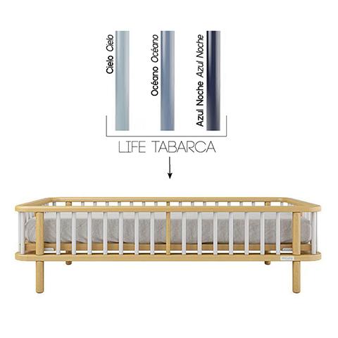 Accessori per la cameretta - Kit trasformazione per lettivo evolutivo Life Struttura Naturale - stecche Night Blue by Micuna