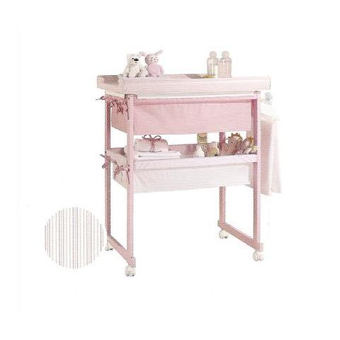 Bagnetti fasciatoio - Bagnetto Plus con cesta di tessili - linea Basic Rosa riv. Rosa by Micuna