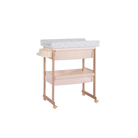 Bagnetti fasciatoio - Bagnetto Plus con cesta di tessili - linea Basic Naturale riv. beige by Micuna