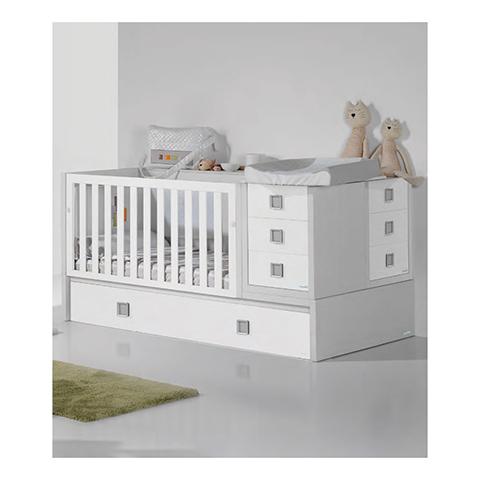 Lettini - Kids Plus [trasformabile] Bianco rovere-bianco finish [Configurazione 1] by Micuna
