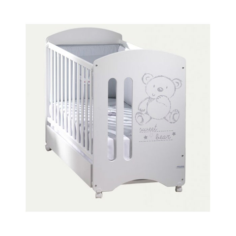 Lettini - Lettino Sweet Bear Basic Bianco [cassetto CP-949 Luxe BIANCO] by Micuna