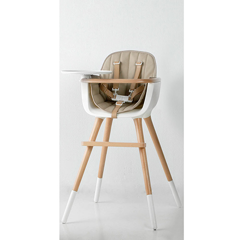 Seggioloni - Ovo Luxe Bianco/naturale-seduta beige by Micuna