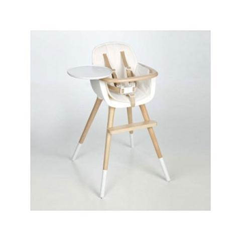 Seggioloni - Ovo Luxe Bianco/naturale-seduta bianca by Micuna