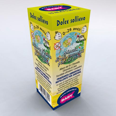 Accessori per l'igiene del bambino - Fragranze ambientali per diffusori Blue Aroma 08 Dolce sollievo 0-24 mesi - effetto insettorepellente by Okbaby