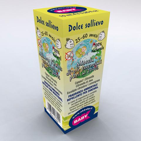 Accessori per l'igiene del bambino - Fragranze ambientali per diffusori Blue Aroma 07 Dolce sollievo 25-60 mesi - effetto insettorepellente by Okbaby