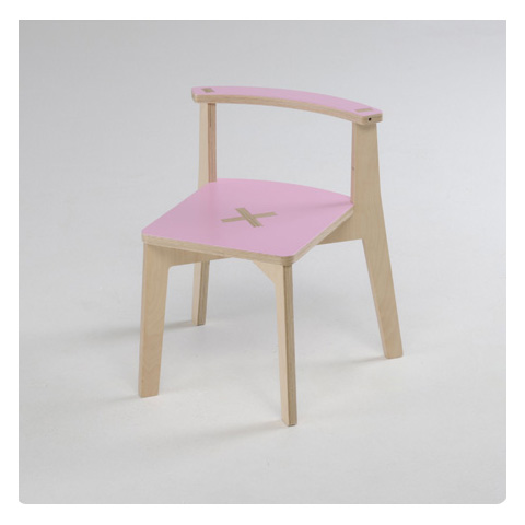 Altri moduli per arredo - MiSiedo naturale/rosa by Foppapedretti