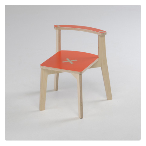 Altri moduli per arredo - MiSiedo naturale/rosso by Foppapedretti