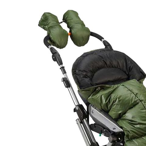Accessori per il passeggino - Muffolo - coppia di moffole universali S575 verde bosco [S30030] by Picci