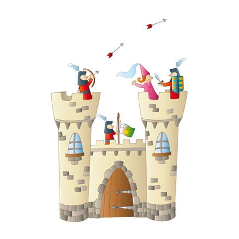 Complementi e decori - Adesivo cameretta Il castello cm. 65 x 92 [MURMUR8] by Acte Deco