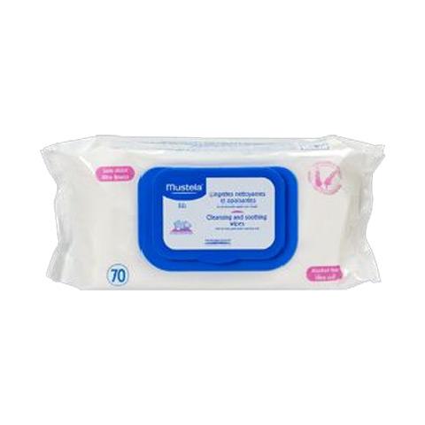 Prodotti igiene personale - 70 Salviettine detergenti e lenitive - speciale cambio MUS06 by Mustela