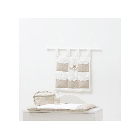 Accessori per l'igiene del bambino - Pannello portaoggetti con bastone - Tato 2013 Bianco-tortora 39041 by Nanan