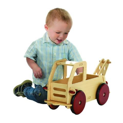 Giocattoli 6+ mesi - Primo camioncino cavalcabile Naturale by Moover