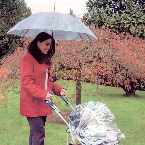 Accessori per carrozzine - Accessorio per passeggino Il reggi ombrello - versione con ombrello a corredo con ombrello by No Rain