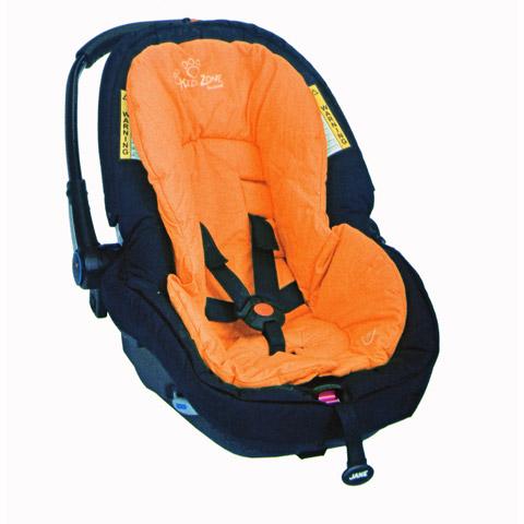 Accessori per il viaggio del bambino - Rivestimento a cappuccio per seggiolino auto gruppo 0+ J17 orange [80217] by Jane