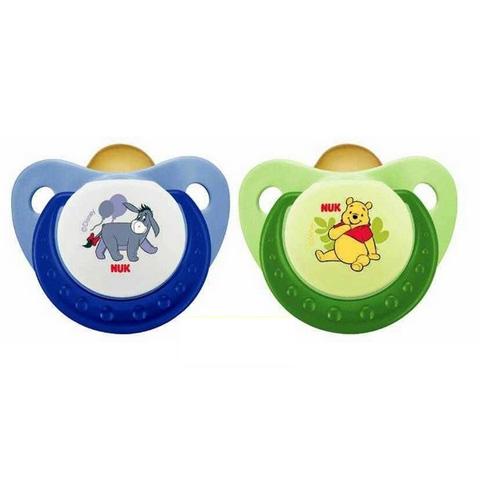 Biberon e succhiotti - 2 succhietti in caucci� Winnie the Pooh Mis.2 (6-18 mesi) 10733027 by Nuk