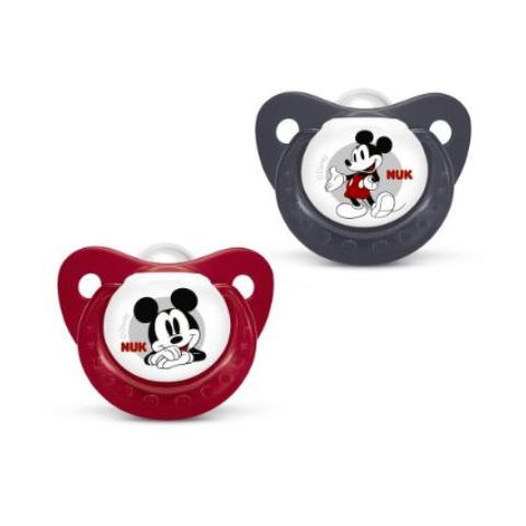 Biberon e succhiotti - 2 succhietti in silicone Mickey Mouse Mis.1 (0-6 mesi) 10729986 by Nuk