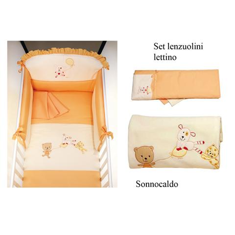 Coordinati tessili - Set Du Du con Galetta: Piumone + Sonnocaldo + Lenzuolini Lettino variante 9 by Picci