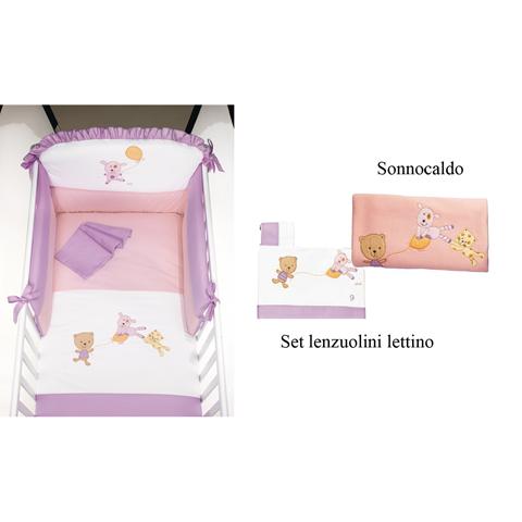 Coordinati tessili - Set Du Du con Galetta: Piumone + Sonnocaldo + Lenzuolini Lettino variante 1 by Picci