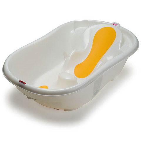 baby bath anatomically shaped tub ok baby onda evolution neutro white yellow. Black Bedroom Furniture Sets. Home Design Ideas