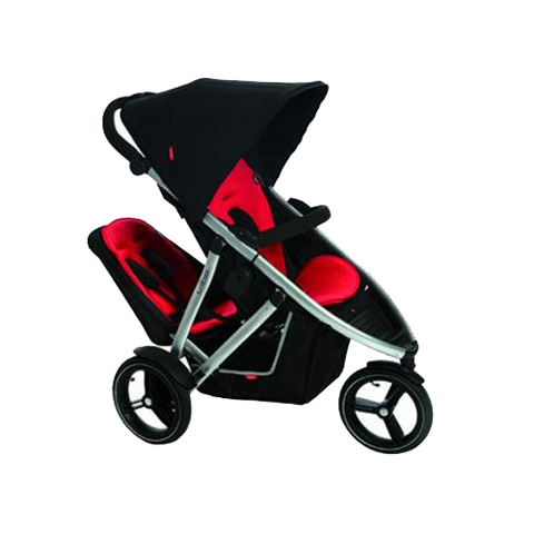 Passeggini - Vibe 3 wheels Rosso-Nero by Phil and Teds