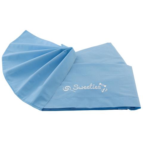 Coperte, lenzuolini e paracolpi - Lenzuolino tinta unita per lettino - Sweeties Azzurro by Pali