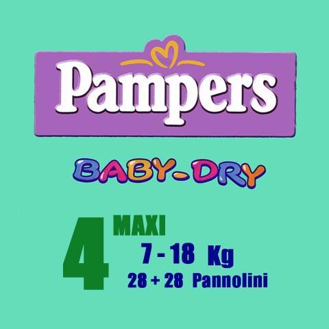 Il cambio (pannolini, etc.) - Pannolini Pannolini Baby Dry - Maxi [7-18 Kg.] - pacco doppio Maxi [7-18 Kg.] - 52 pezzi by Pampers