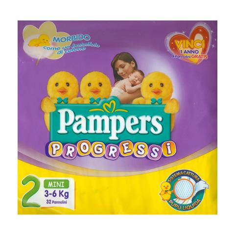 Il cambio (pannolini, etc.) - Pannolini Progressi Premiums - Mini - 3-6 Kg. Mini [3-6 Kg.] - 30 pezzi by Pampers