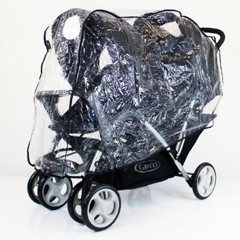 Accessori per il passeggino - Parapioggia per passeggino gemellare a trenino TB by Tecno Baby
