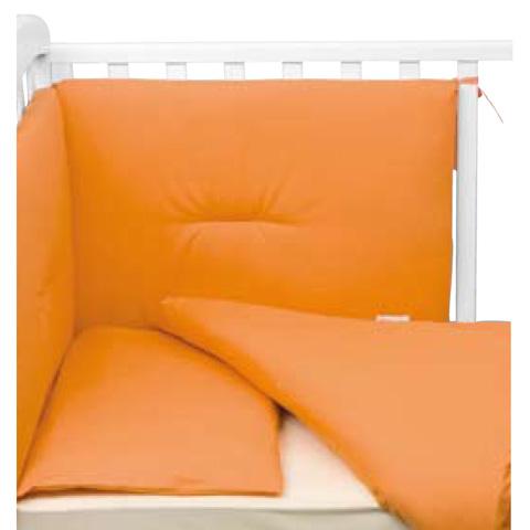Coperte, lenzuolini e paracolpi - Paracolpi per lettino tinta unita Colorelle 154 arancio acceso by Picci