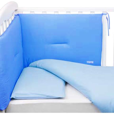 Coperte, lenzuolini e paracolpi - Paracolpi per lettino tinta unita Colorelle 71 azzurro intenso by Picci