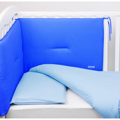 Coperte, lenzuolini e paracolpi - Paracolpi per lettino tinta unita Colorelle 10 blu by Picci