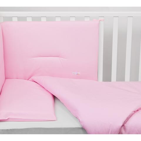Coperte, lenzuolini e paracolpi - Paracolpi per lettino tinta unita Colorelle 01 rosa by Picci